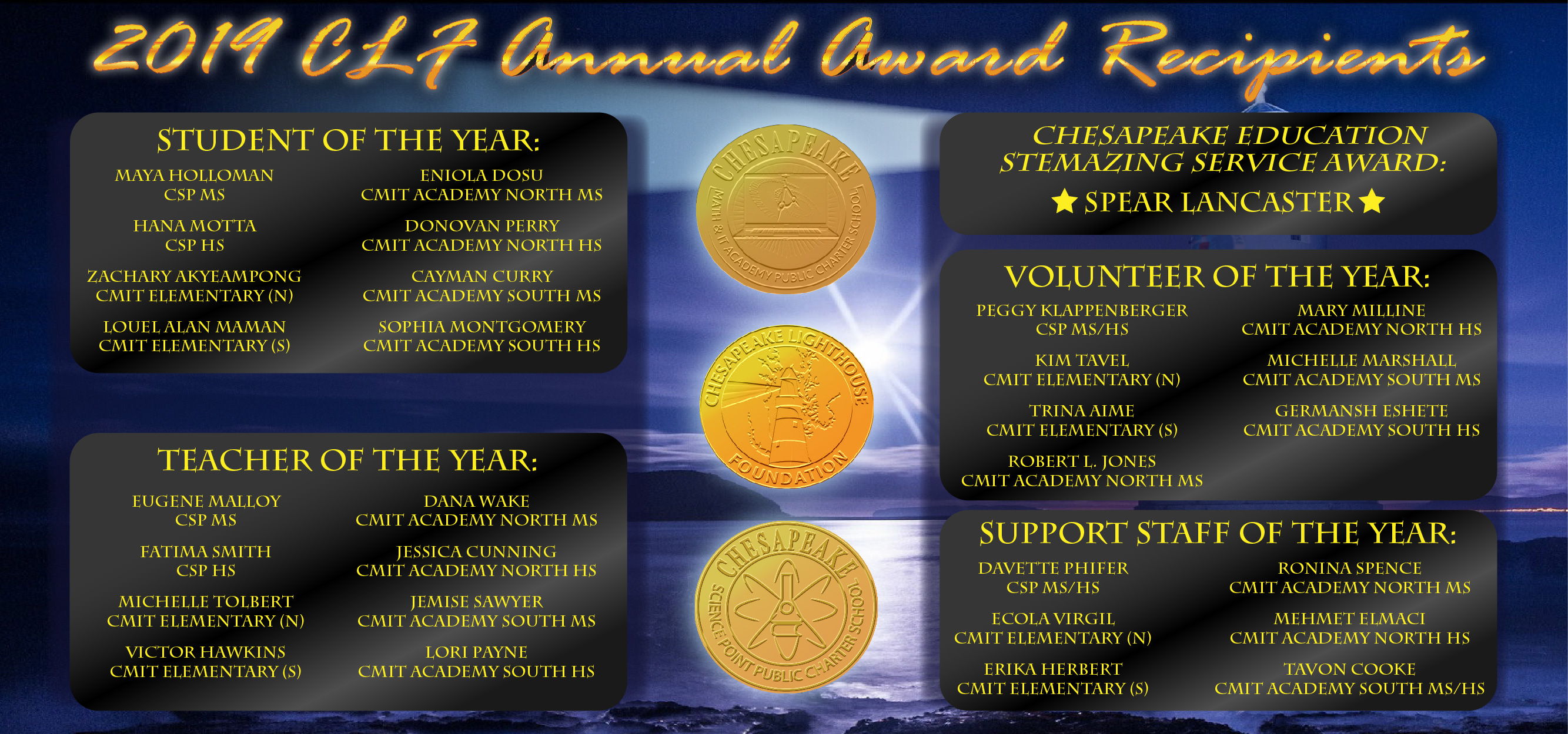 Congratulations CLF Schools' 2019 Annual Awards Winners