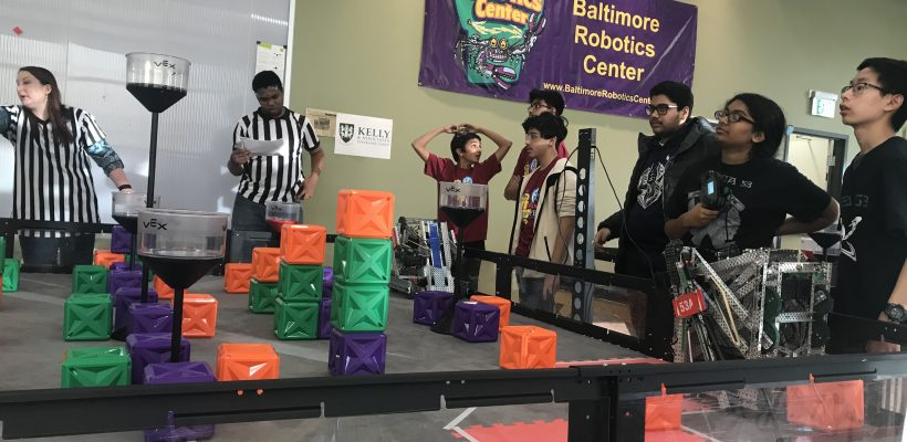 CMIT Academy HS VEX Robotics Team Beats Out 17 Teams in Competition!