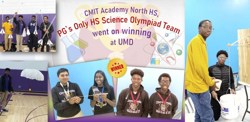 PG`s Only High School Science Olympiad Team went on winning at UMD Invitational Tournament