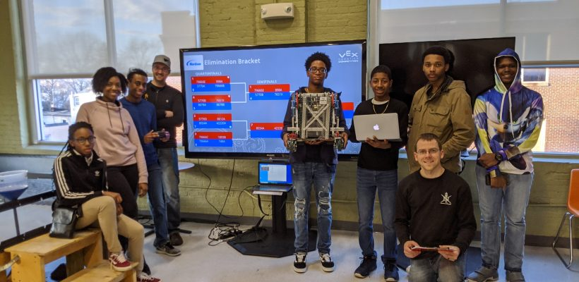 CMIT-N NSBE JR FIRE VEX EDR Team took 2nd Place at BMore Robotic's Charm City Invitational