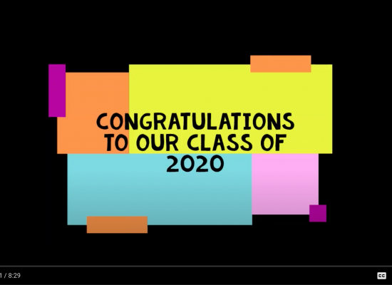 Congratulations to our Class of 2020!