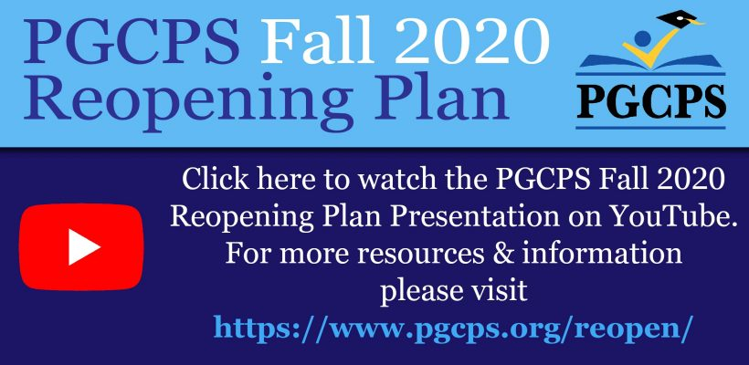 PGCPS Fall 2020 Reopening Plan