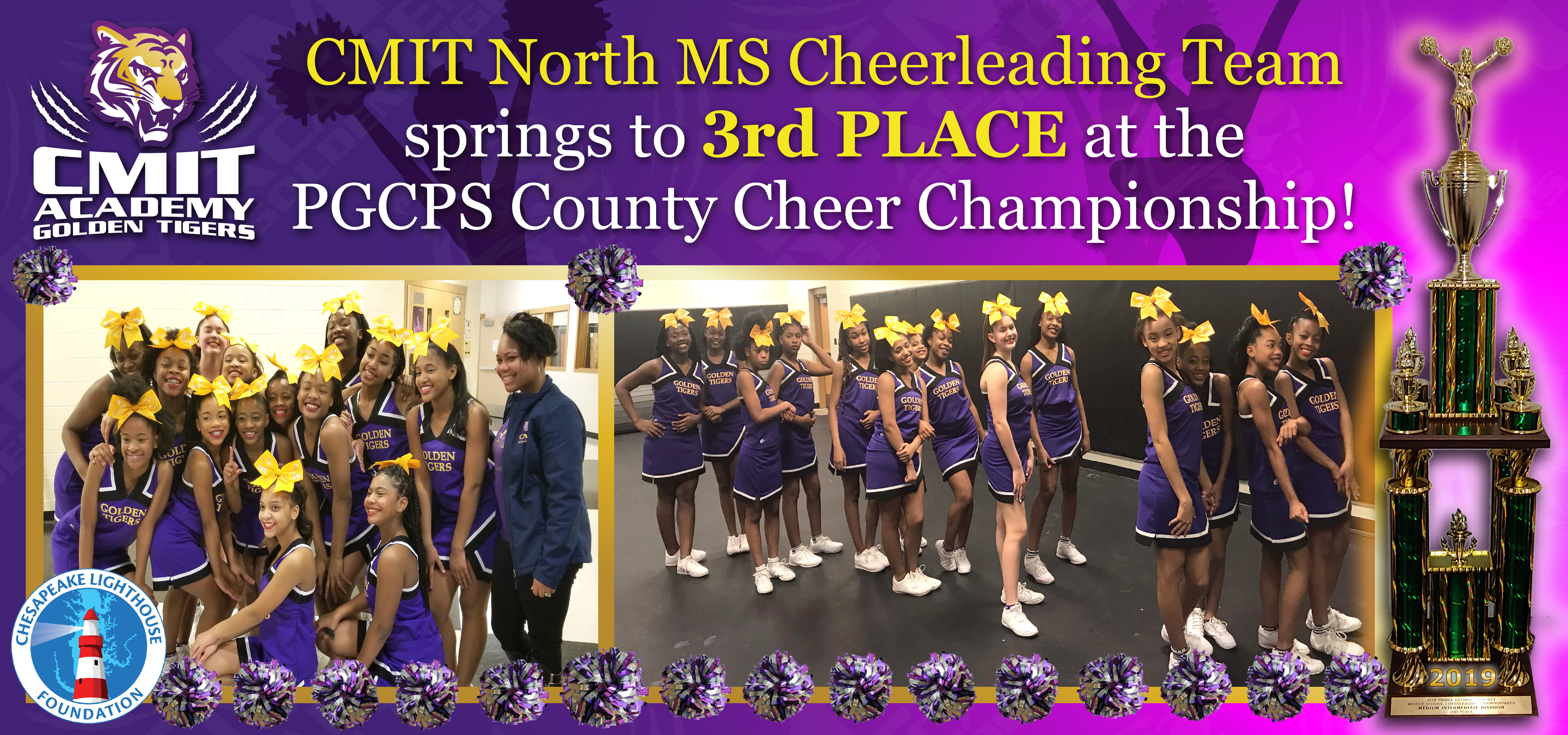 Cheerleading Team Earns 3rd Place at PGCPS County Cheer Championship
