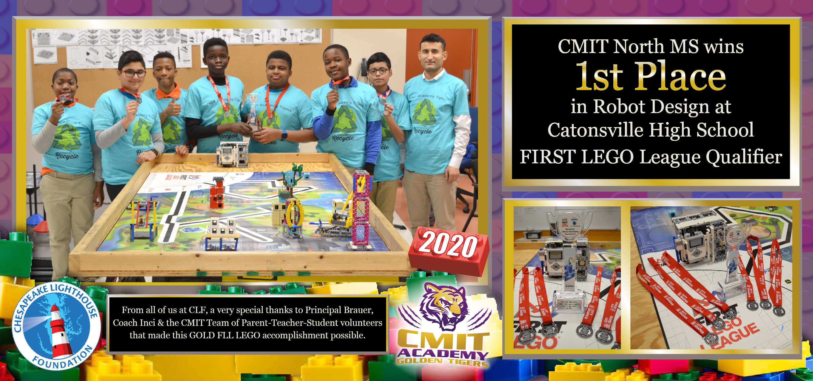 CMIT North MS Wins 1st Place at Robot Design