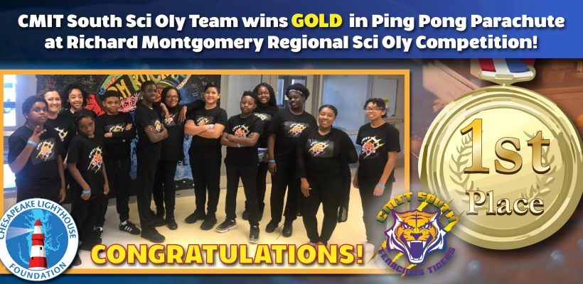 CMIT South Wins Gold at Richard Montgomery Science Olympiad Regional Competition