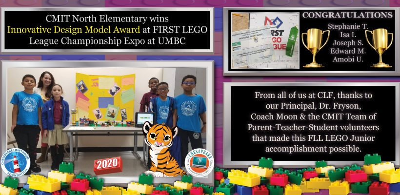 CMIT North Elementary FLL Junior Team wins Innovative Design Award!