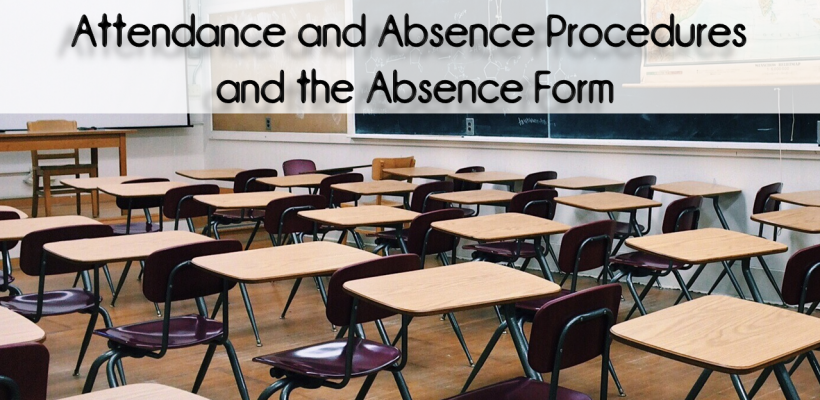 CMIT North High School Student Attendance and Absence Procedures (UPDATED) and the Absence Form