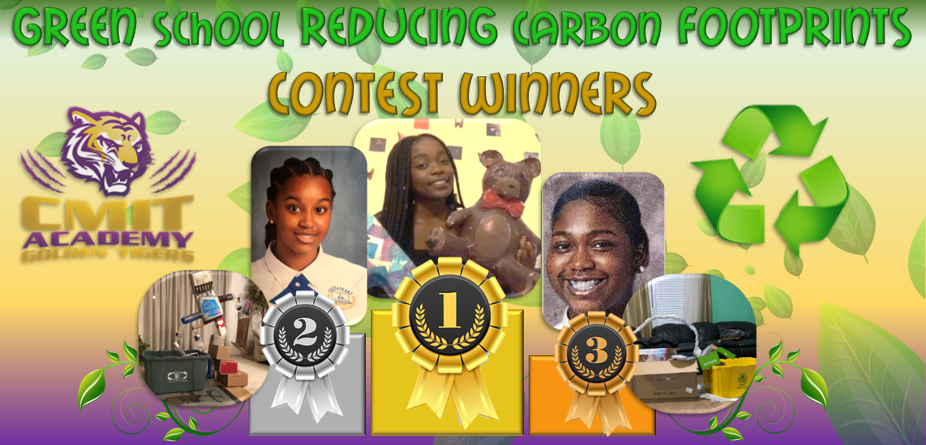 GREEN SCHOOL REDUCING CARBON FOOTPRINTS ARTS AND ESSAY ENTRY CONTEST WINNERS