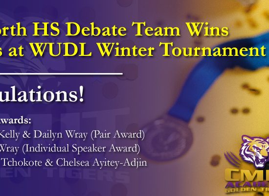 CMIT North HS wins 3x Awards at Debate Competition