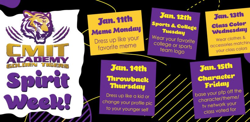 SPIRIT WEEK JAN 11-15 2021