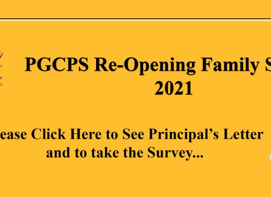PGCPS Reopening Family Survey and Principal's Letter