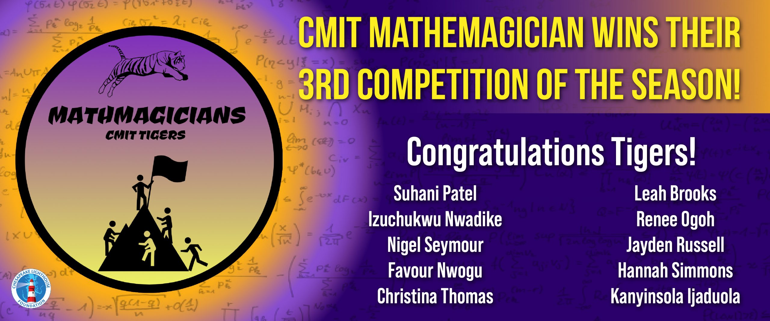 Mathemagicians 3x Wins!