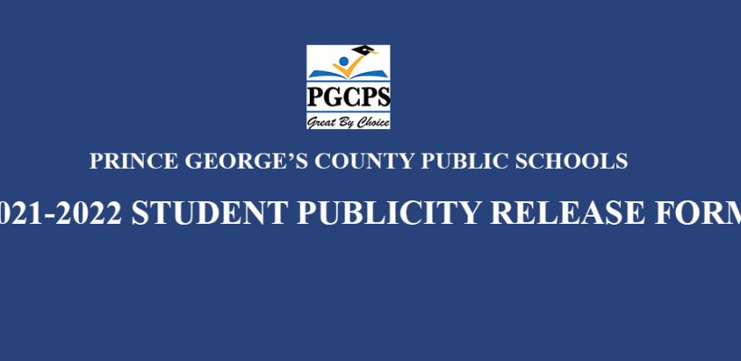 PGCPS Student Publicity Release Form