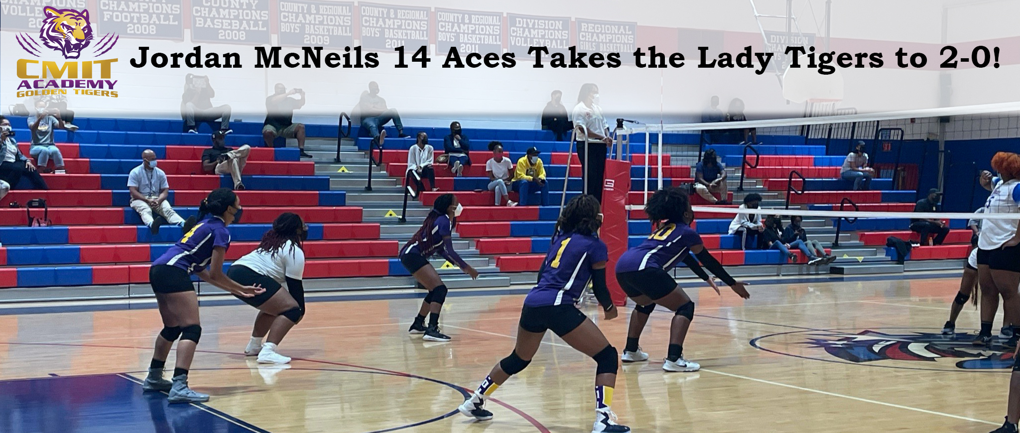 Jordan McNeils 14 Aces Takes the Lady Tigers to 2-0!