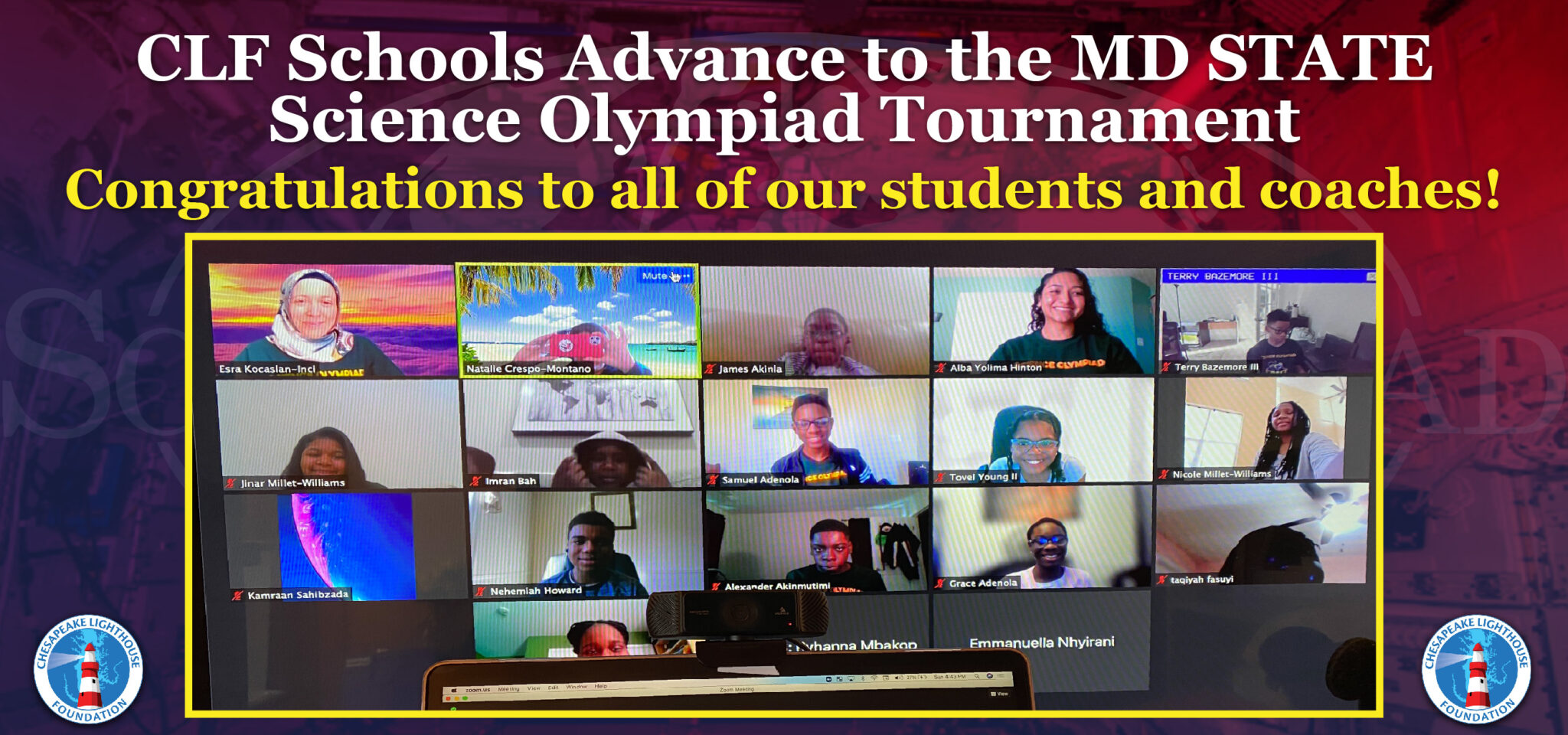 Three CLF Schools Advance to the MD State Science Olympiad Tournament